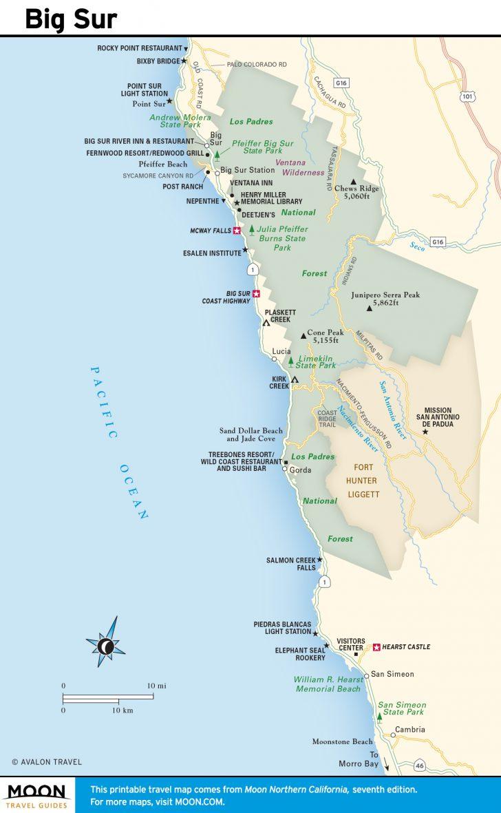 California Coast Attractions Map