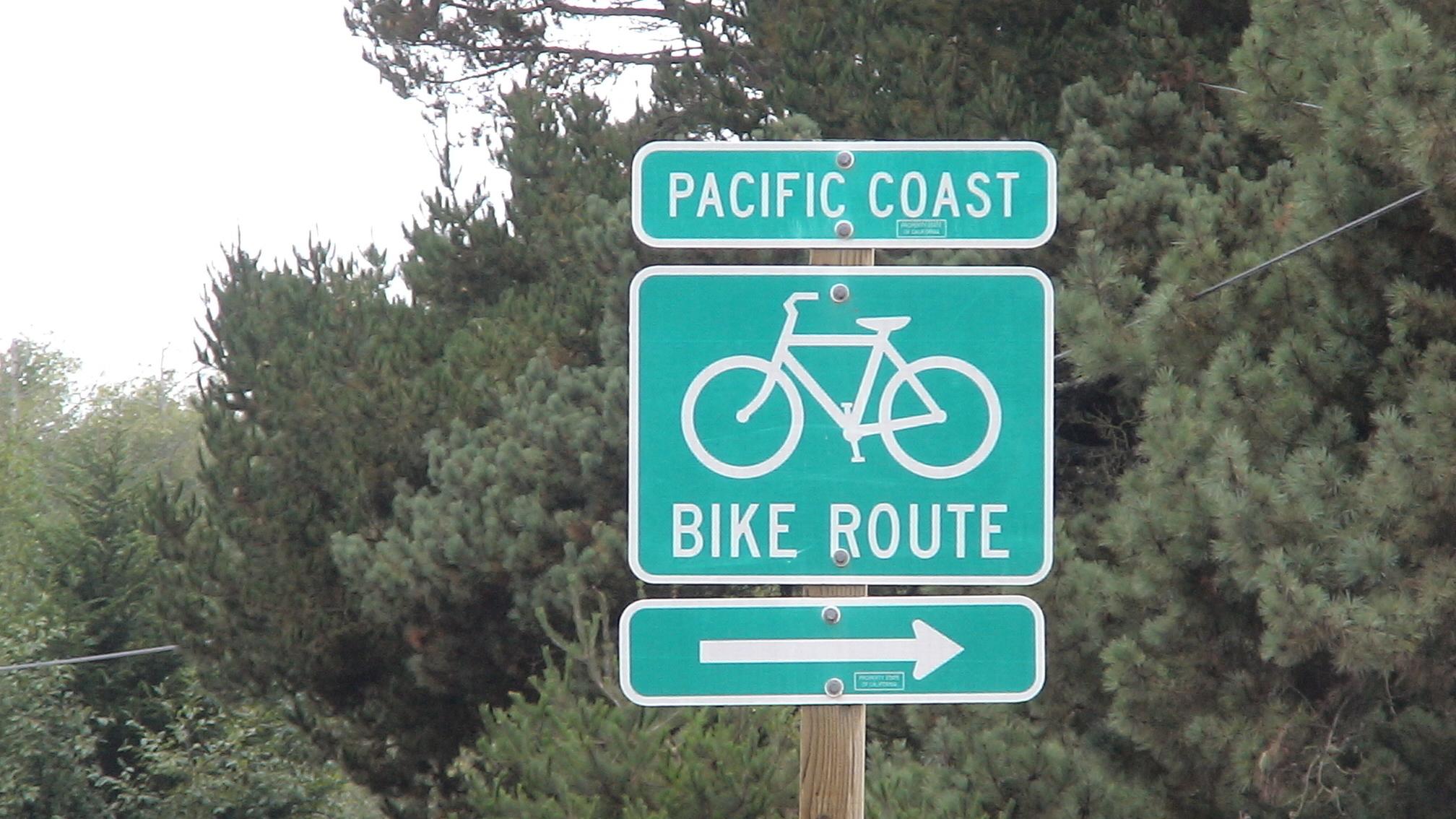 Biking The Pacific Coast - Pacific Coast Bike Route Map California