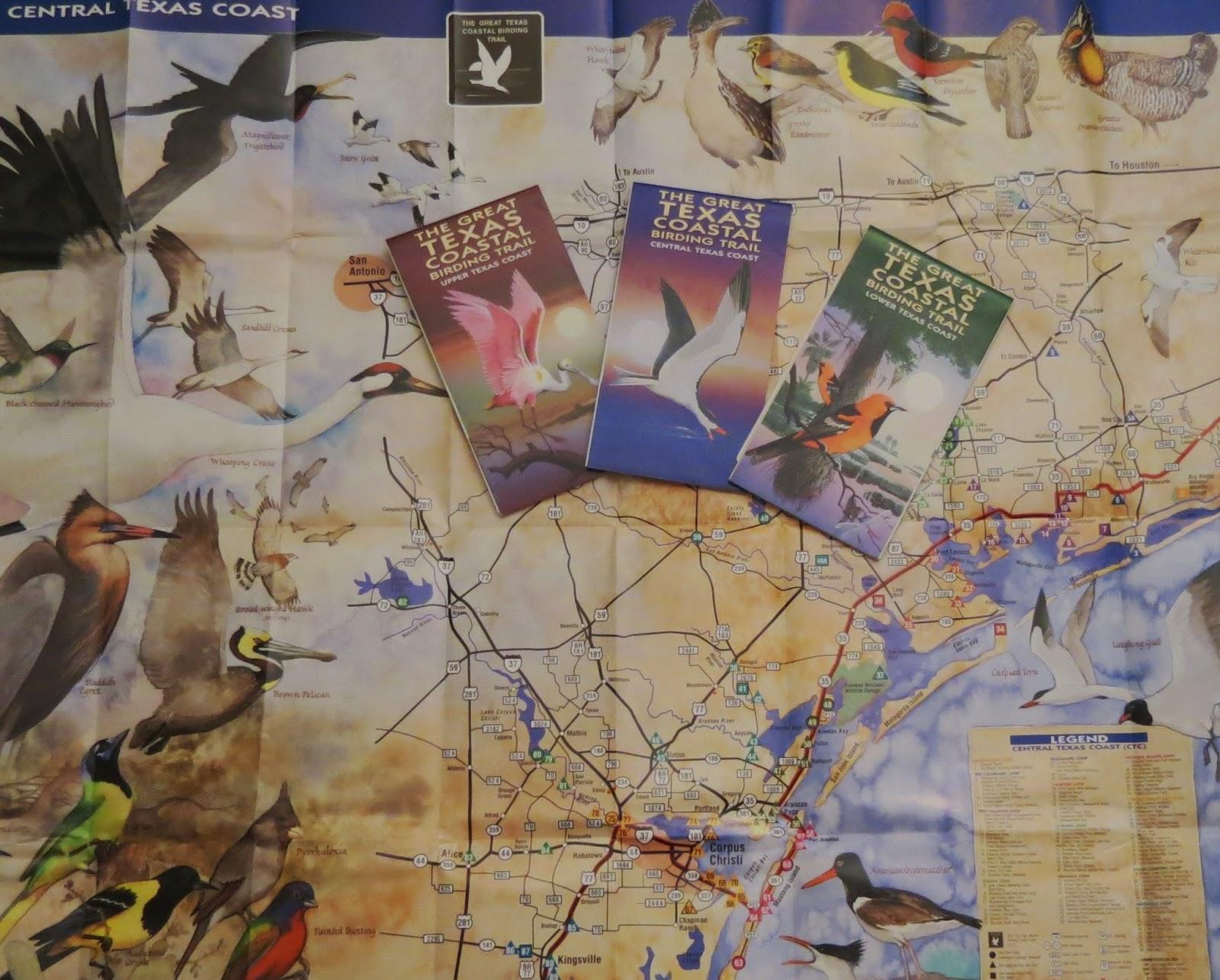 Birding Across Texas: Roadside Birding Along The Great Texas Coastal - Texas Birding Trail Maps