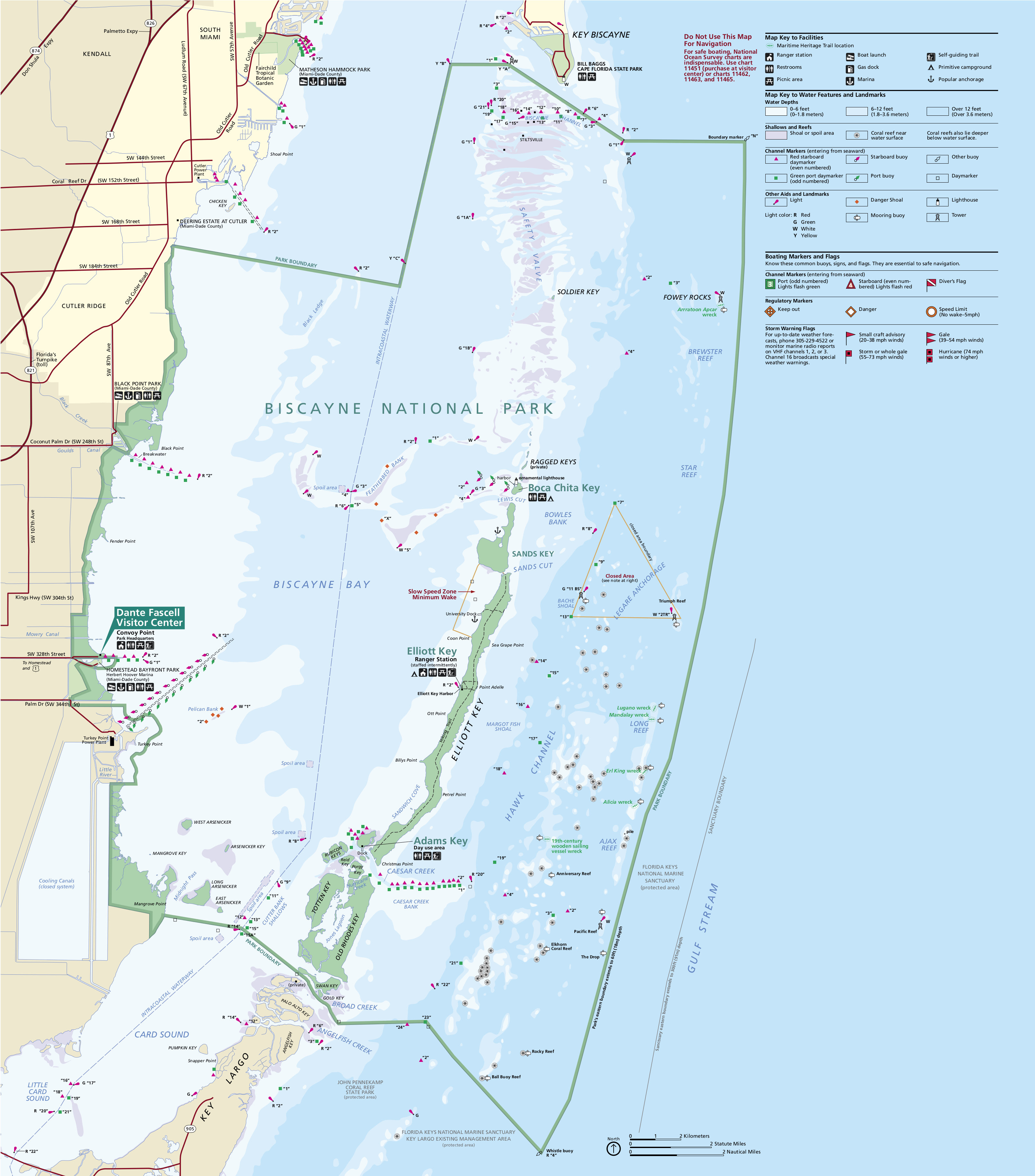 Biscayne Maps | Npmaps - Just Free Maps, Period. - National Parks In Florida Map