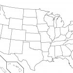 Black And White Us State Map Printable Us State Map Black And White   Printable Picture Of United States Map