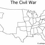 Blank Civil War Map | Doreen's Board | Pinterest | Social Studies   Printable Civil War Map