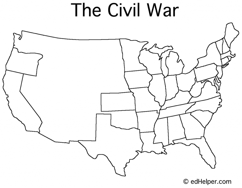 Blank Civil War Map | Doreen's Board | Pinterest | Social Studies - Printable Civil War Map