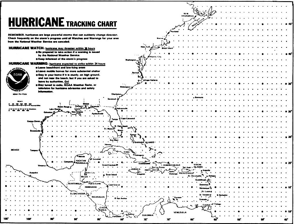 Blank Hurricane Tracking Chart   Hurricanes, Typhoons & Tropical - Printable Hurricane Tracking Map