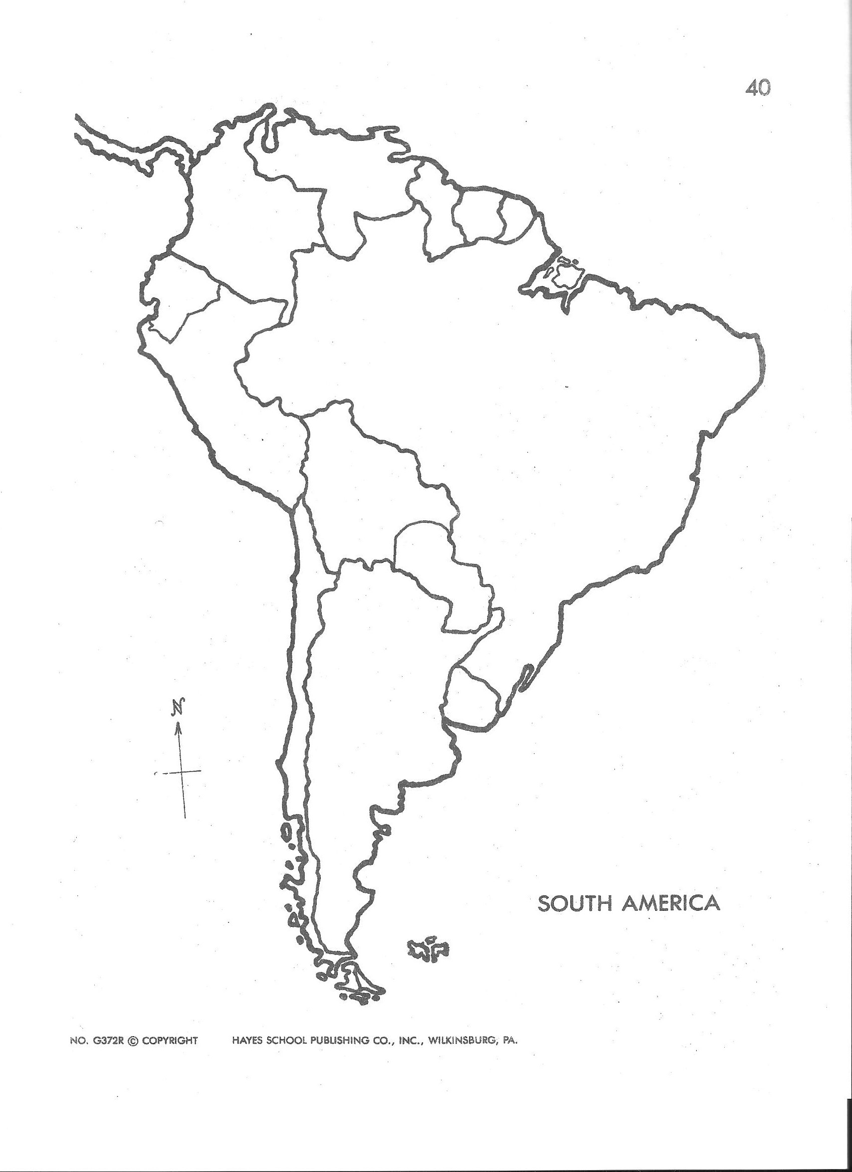 Blank Map Of Central And South America Printable And Travel - Blank Map Of Latin America Printable