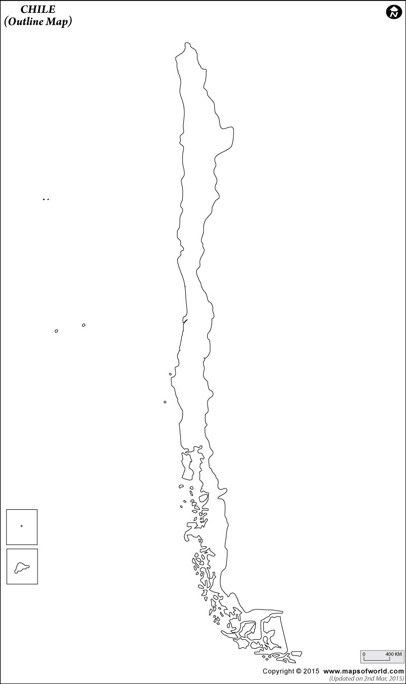 Blank Map Of Chile   Chile Outline Map - Free Printable Map Of Chile