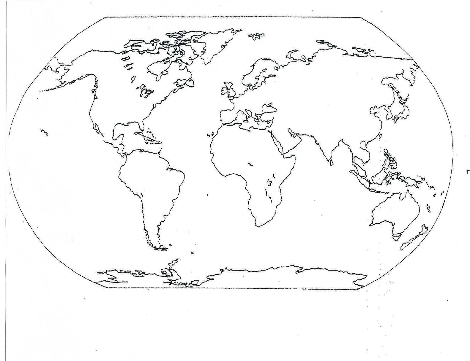 Blank Seven Continents Map | Mr.guerrieros Blog: Blank And Filled-In - Blank Continent Map Printable