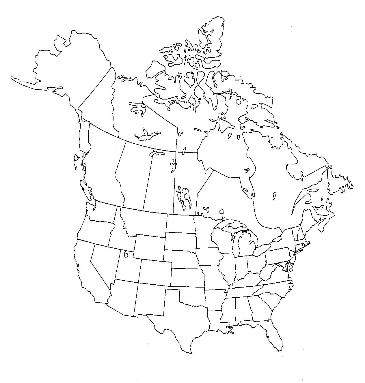Blank Us And Canada Map Printable Us And Canada Map 8 Printable - Blank Us And Canada Map Printable