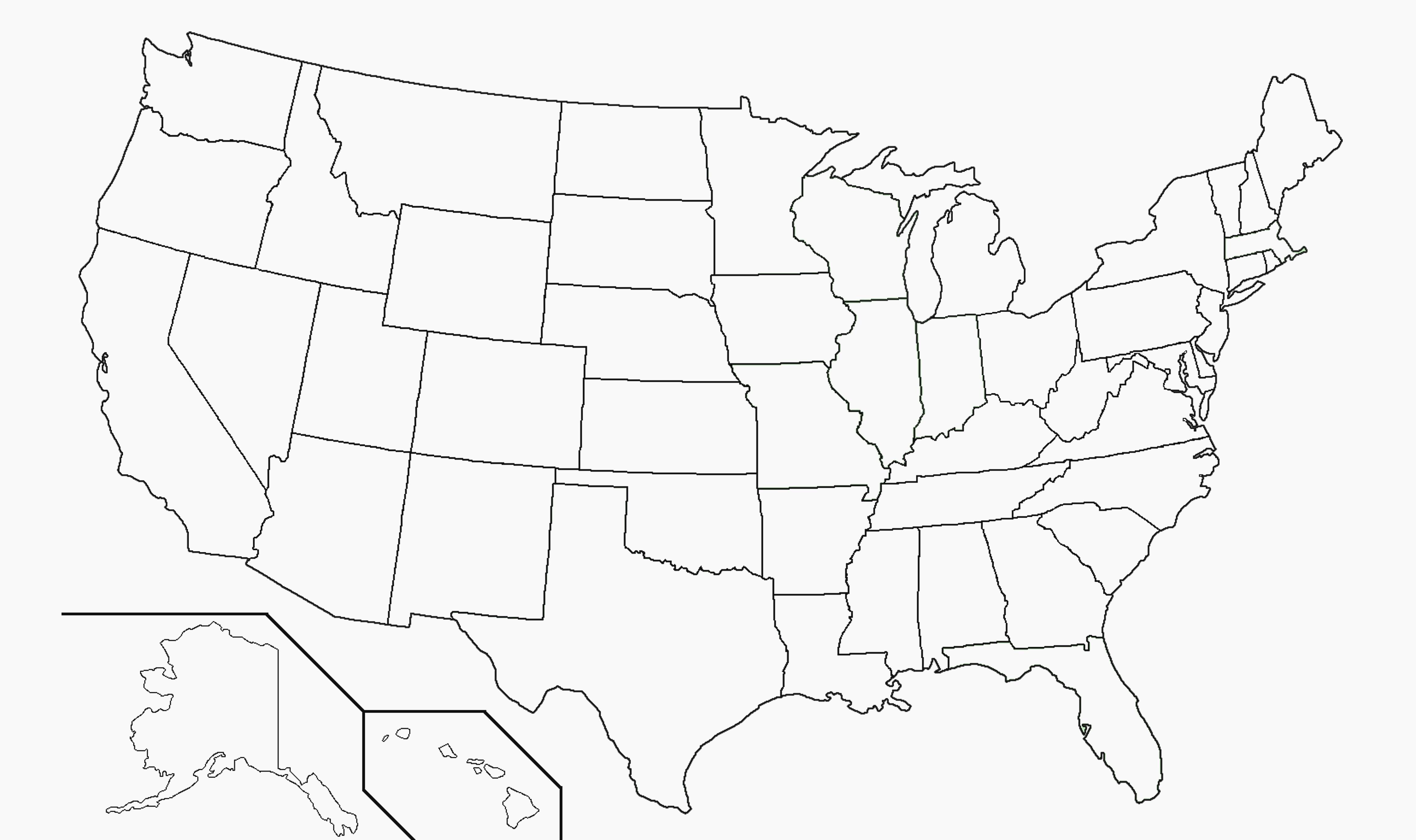 Blank Us Map Including Alaska And Hawaii Archives - Clanrobot - Free Printable Map Of Alaska