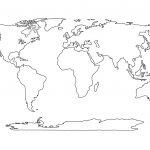 Blank World Map Printable | Social Studies | Pinterest | World Map   Printable Earth Map