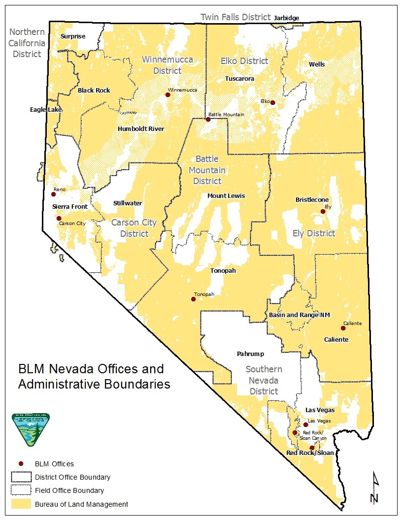 Blm Land Mapproject Awesomenevada - States Map With Cities - Texas Blm Land Map