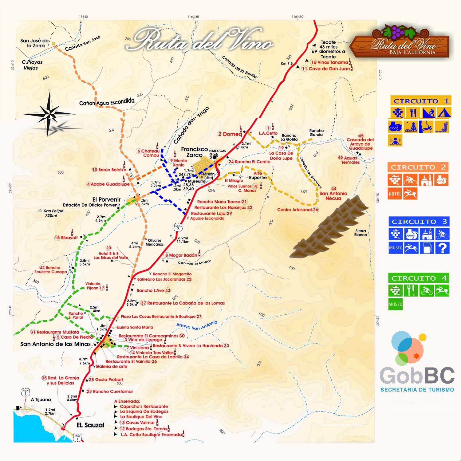 Blog Valle De Guadalupe Wine Map Map New Of Map Of Baja California - Guadalupe California Map