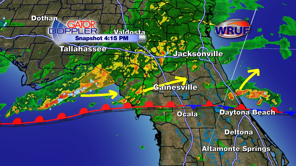 Blog | Wruf Weather | Precise Storm Tracking For Gainesville, Ocala - Florida Weather Forecast Map