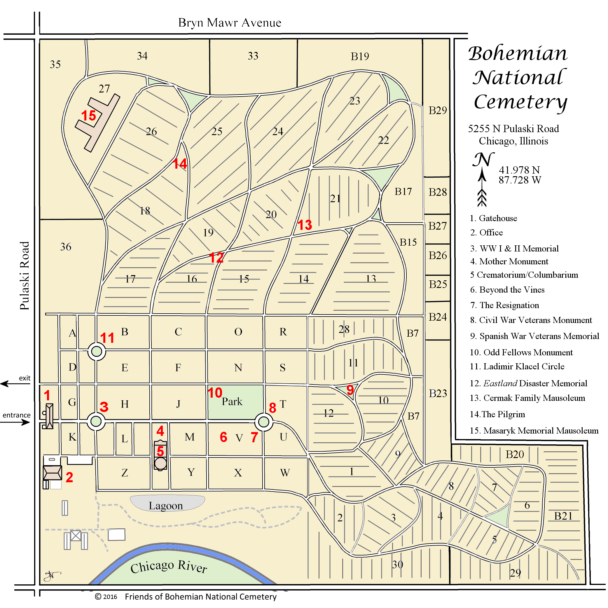 Bnc Map - Florida National Cemetery Map