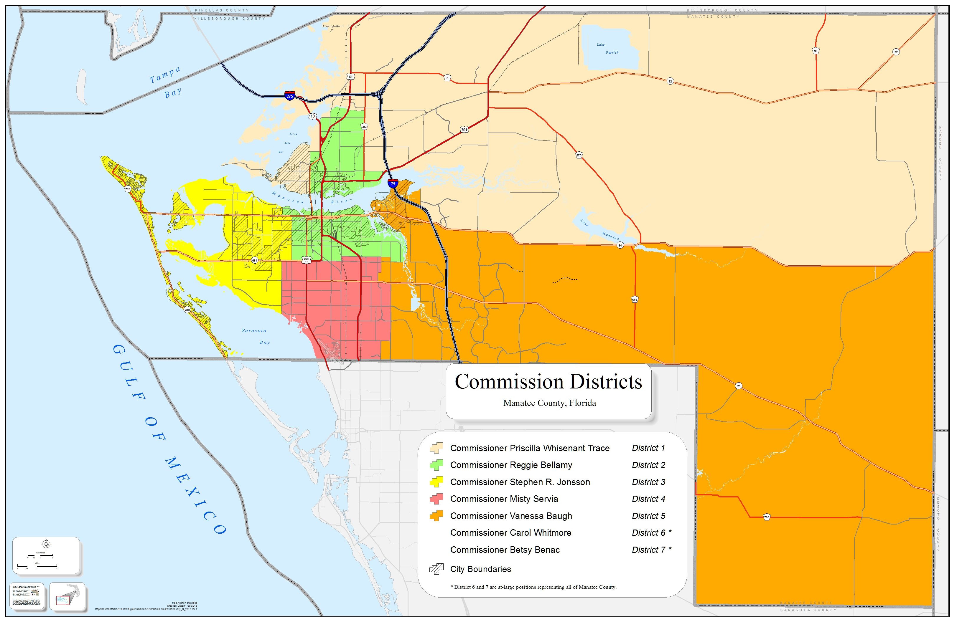 Board Of County Commissioners - Manatee County - Manatee Florida Map