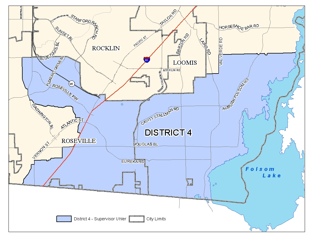 Board Of Supervisors Districts In Auburn California Map - Touran - Auburn California Map