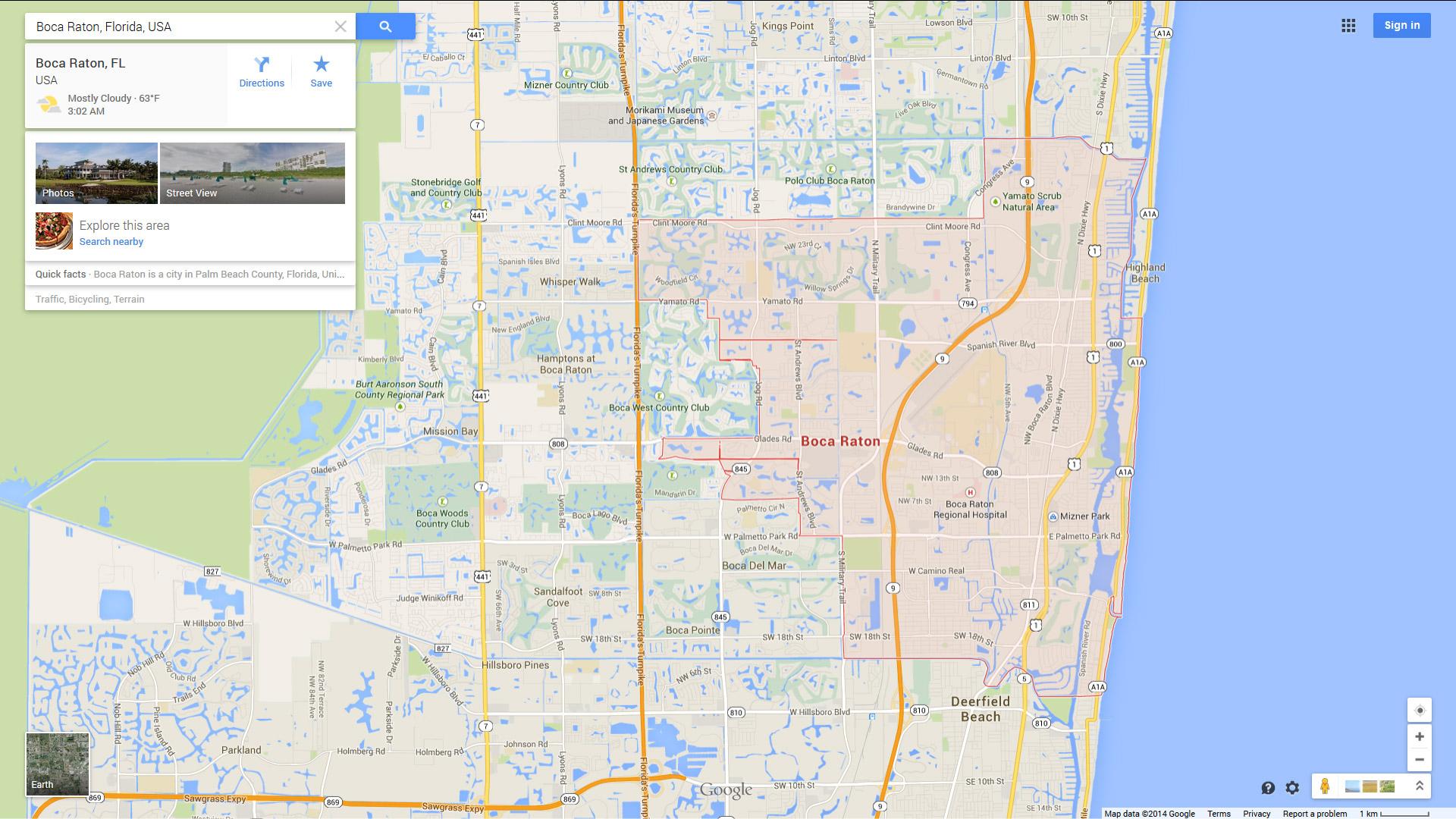 Boca Raton, Florida Map - Boca Florida Map