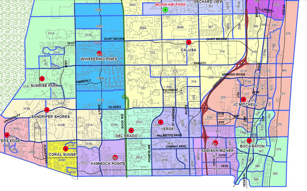 Boca Raton, Florida Public And Private Schools Information, Ratings - Boca Florida Map