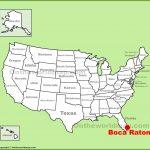 Boca Raton Location On The U.s. Map   Boca Florida Map