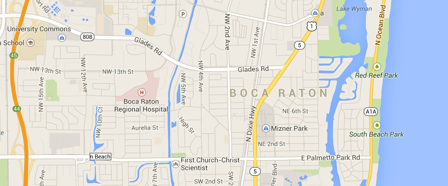 Boca Raton On Map And Travel Information | Download Free Boca Raton - Boca Delray Florida Map