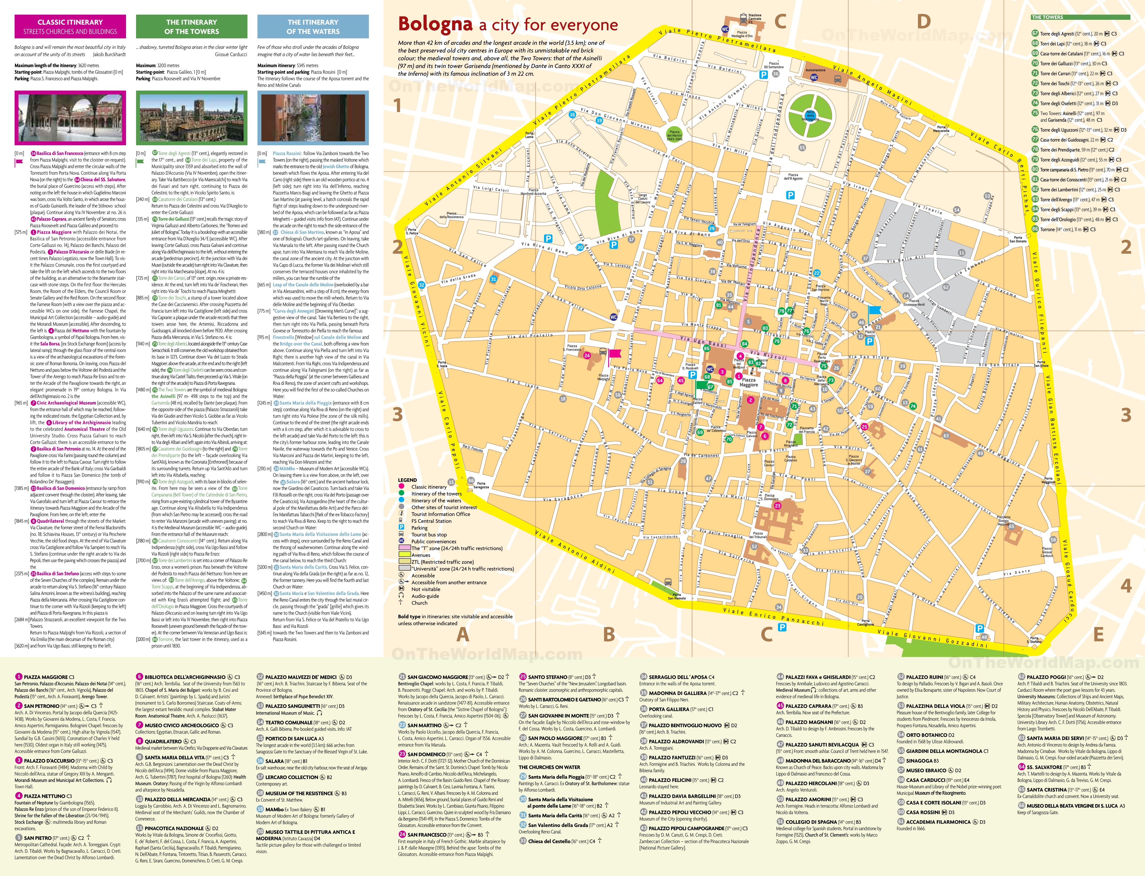 Bologna City Centre Map - Printable Map Of Bologna City Centre