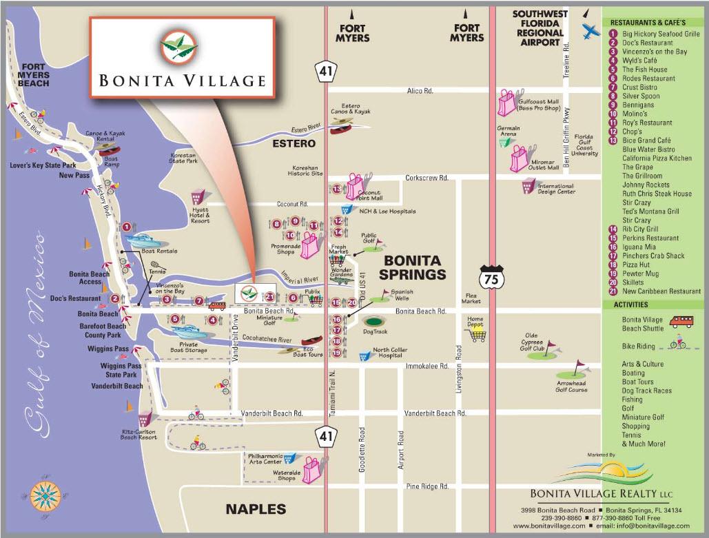Bonita Village | About Bonita Springs - Map Of Bonita Springs And Naples Florida