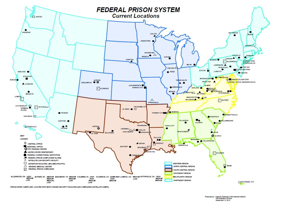 Bop Large Picture Maps California State Prison Locations Map - Klipy - California Prisons Map