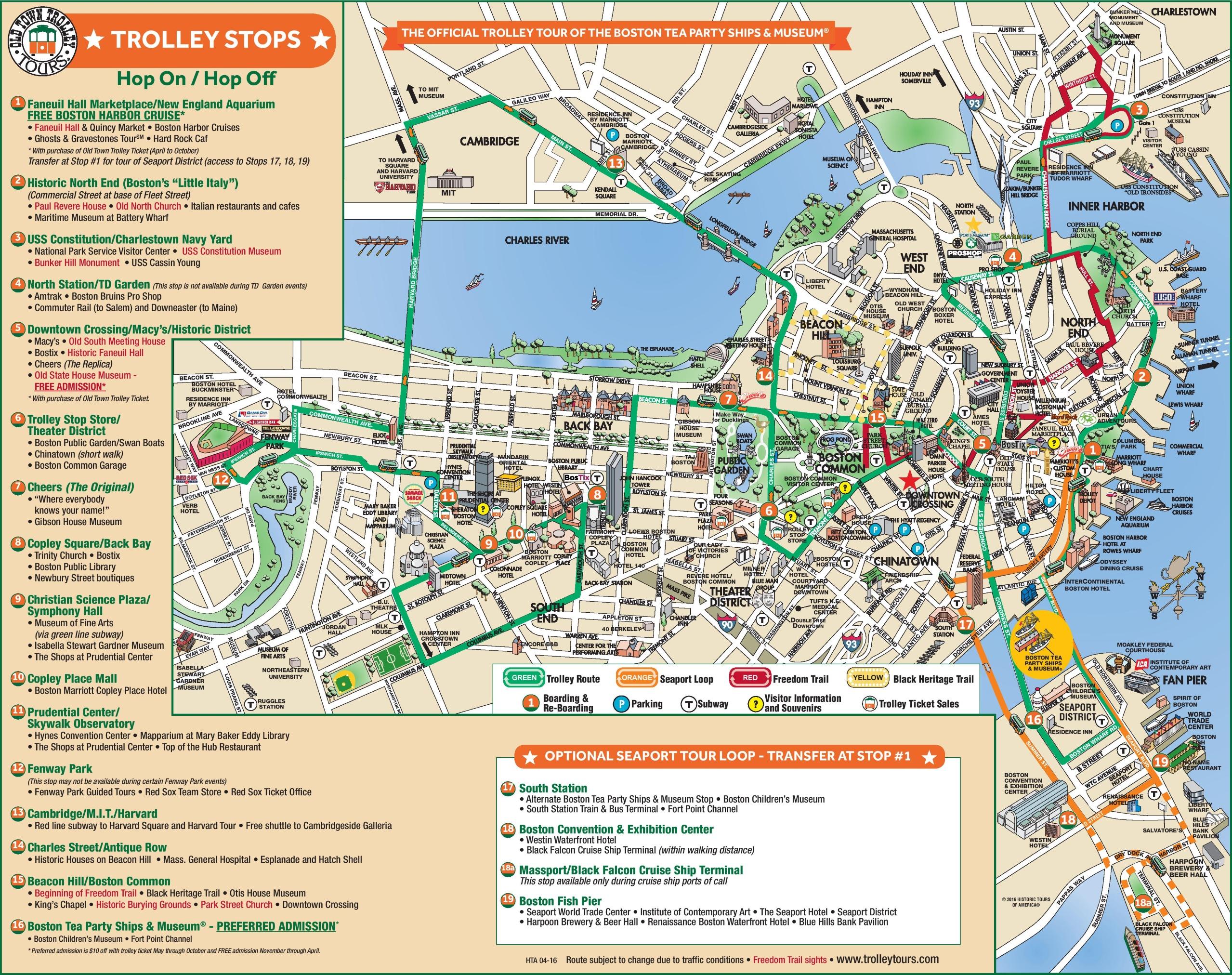 Boston Downtown Map - Printable Map Of Downtown Boston