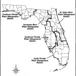 Boundaries Of Florida's Five Water Management Districts. | Download   Northwest Florida Water Management District Map