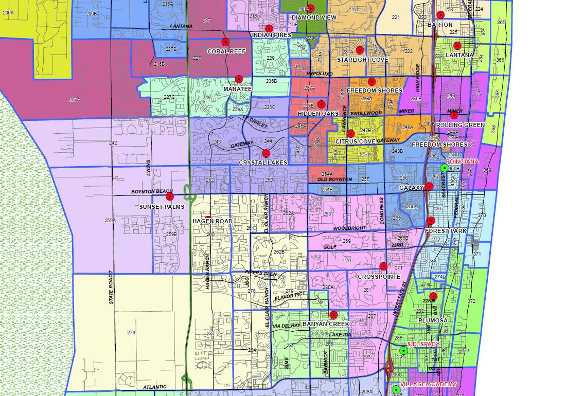 Boynton Beach, Florida Public And Private Schools Information - Florida Public Beaches Map