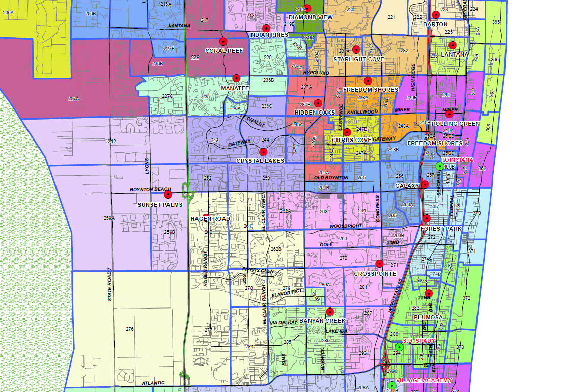 Boynton Beach, Florida Public And Private Schools Information - Map Of West Palm Beach Florida Showing City Limits