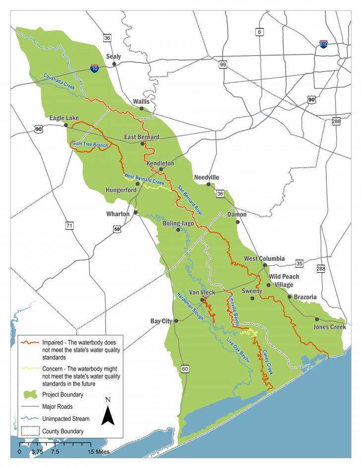 Colorado River Map Texas