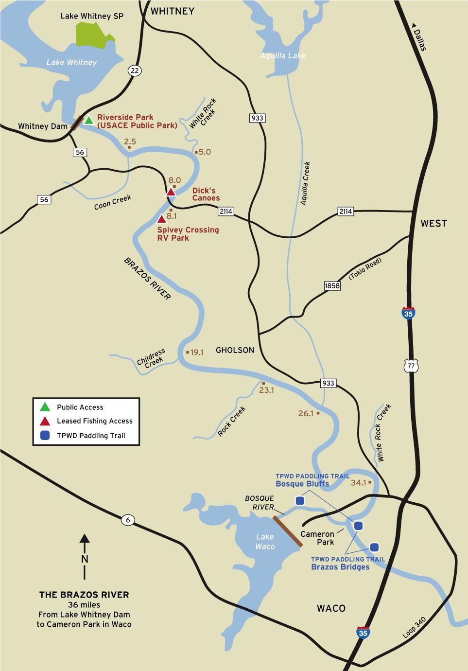 Brazos River Fishing - Texas Lake Maps Fishing