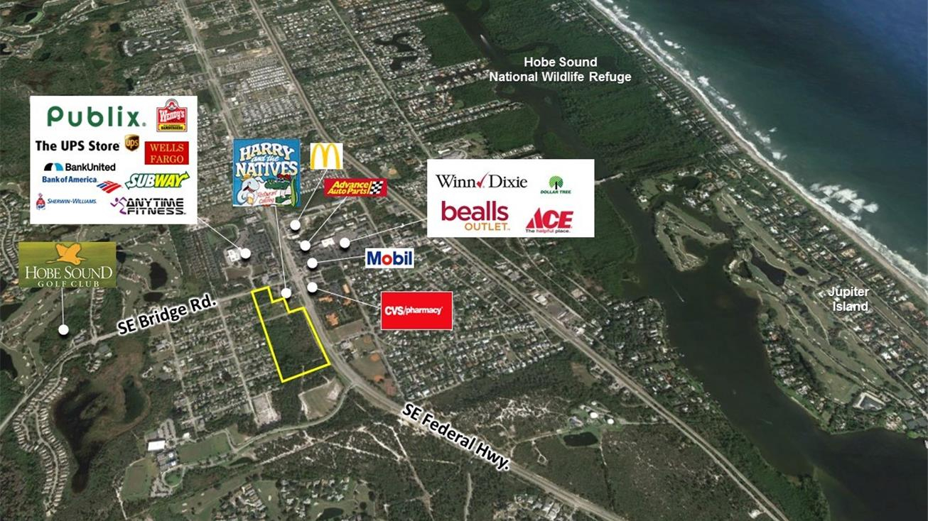 Bridge Rd & Se Federal Hwy, Hobe Sound, Fl 33455 - Land For Sale - Map Of Florida Showing Hobe Sound
