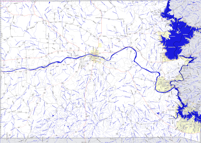 Bridgehunter | Llano County, Texas - Llano Texas Map