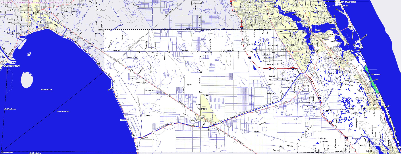 Bridgehunter | Martin County, Florida - Hutchinson Florida Map