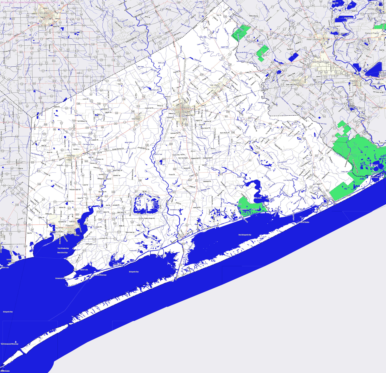 Bridgehunter | Matagorda County, Texas - Map Of Matagorda County Texas