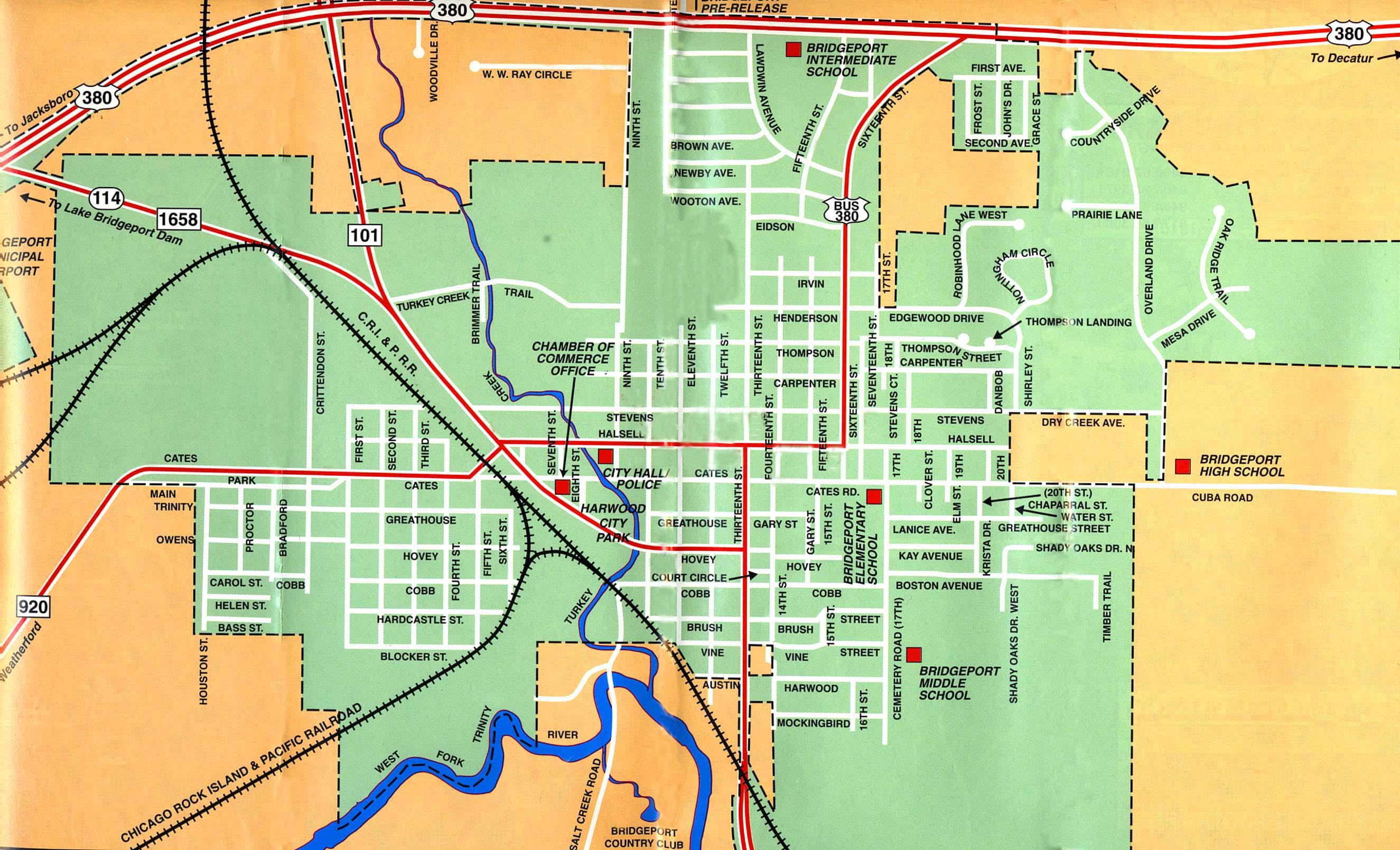 Bridgeport Map - Aishouzuo - Bridgeport Texas Map