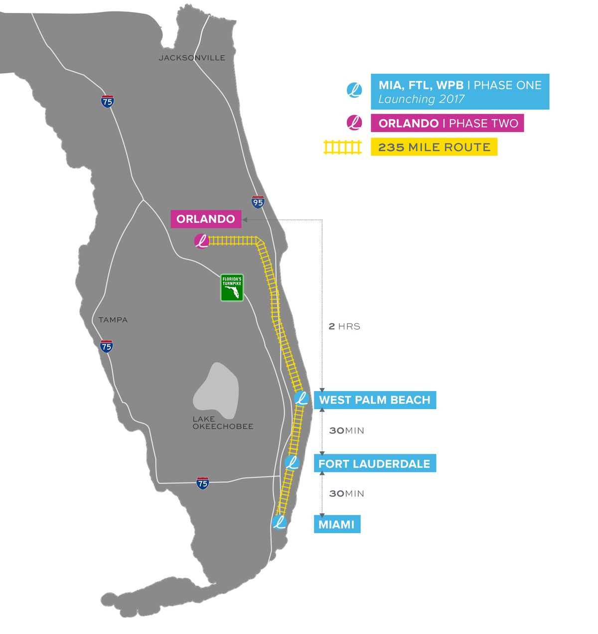 Brightline, Florida's New High-Speed Rail System, Set To Open This - Brightline Florida Map
