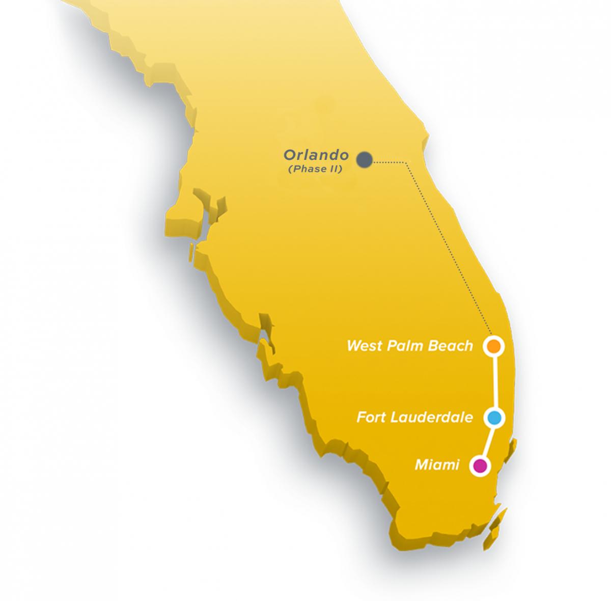 Brightline | The Palm Beaches Florida - Brightline Florida Map