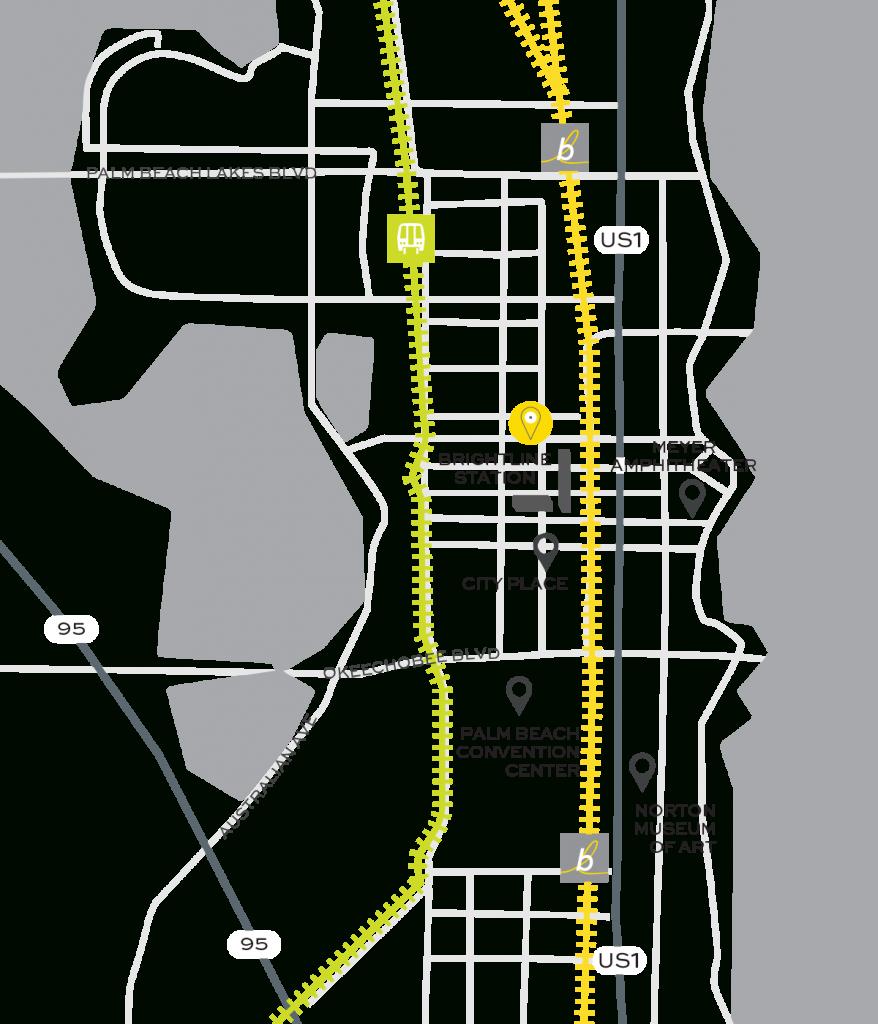 Brightline Train - Florida Brightline Map