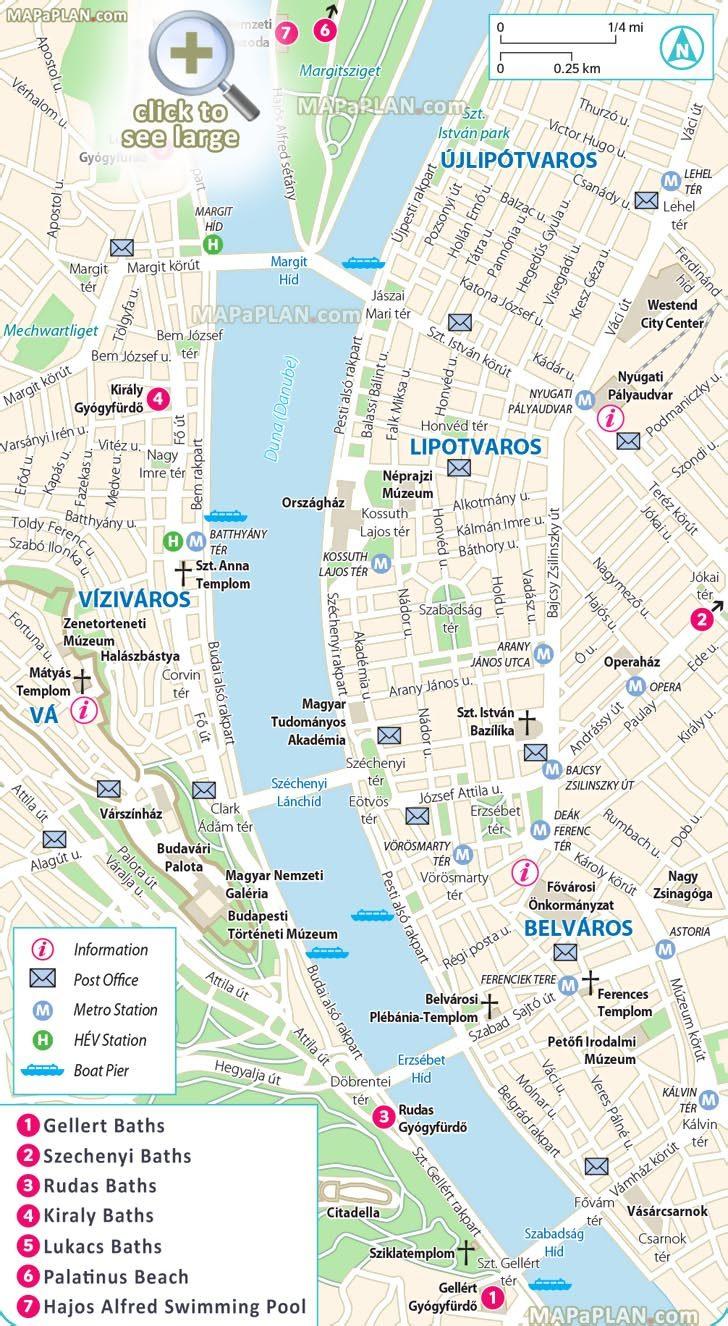 Budapest Tourist Map Printable