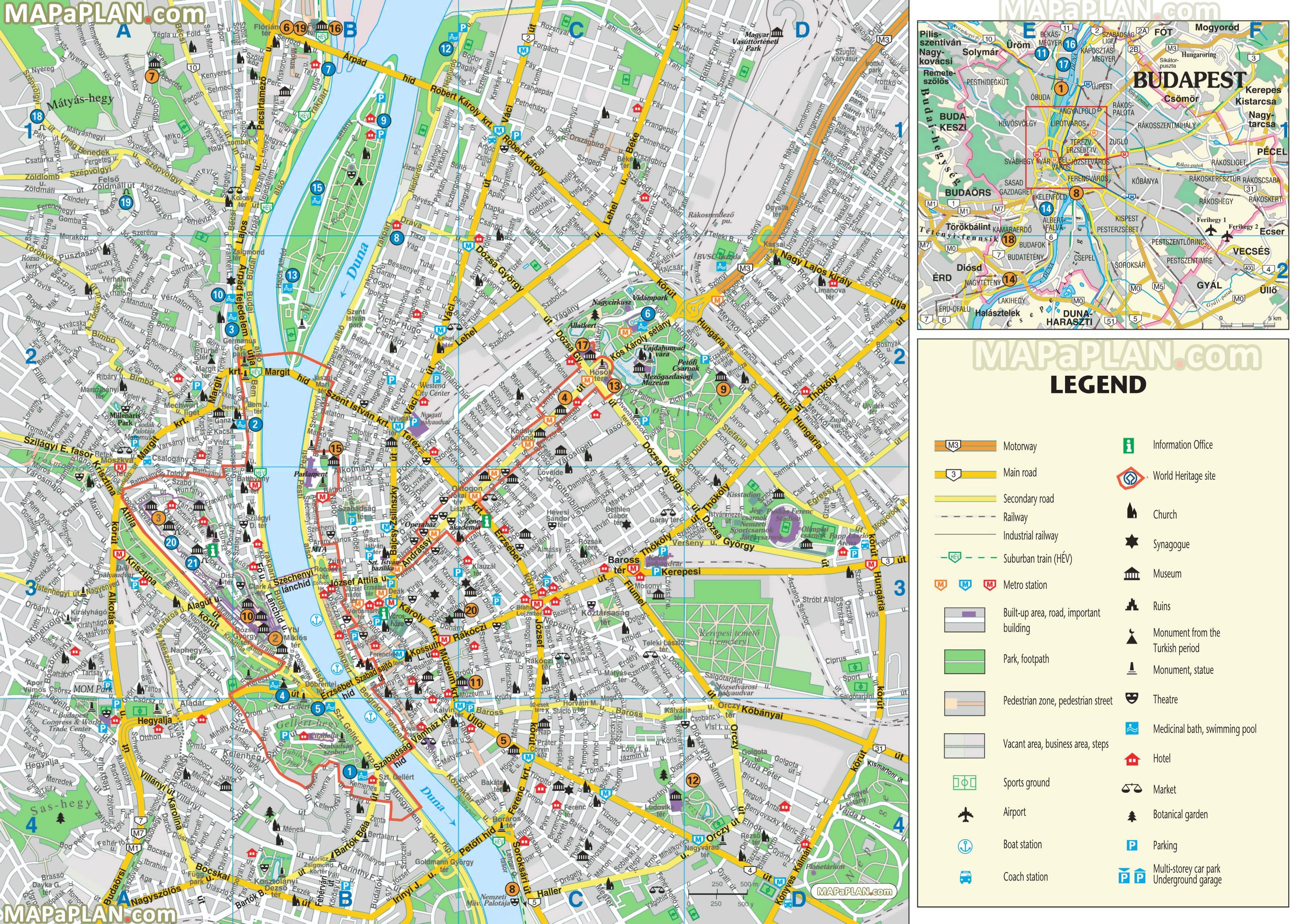 Budapest Maps - Top Tourist Attractions - Free, Printable City - Helsinki City Map Printable