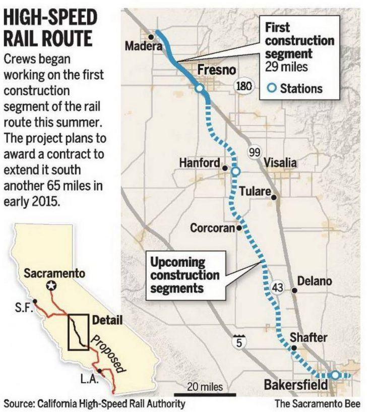 California Bullet Train Map
