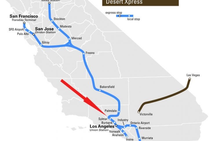 California Train Map