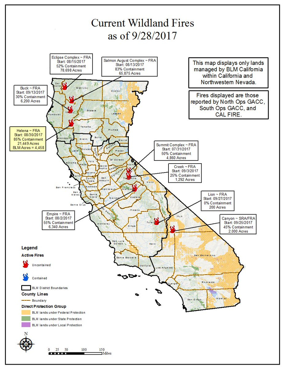 "Bureau Of Land Management California On Twitter: ""9/28 Wildfire Map - California Public Lands Map"