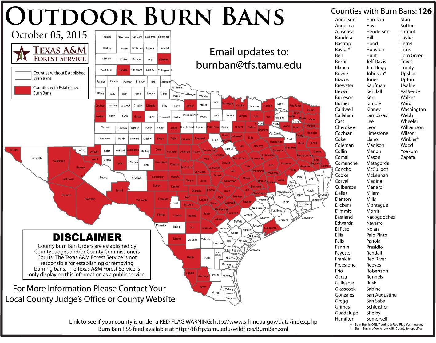 Burn Ban Map Texas | Business Ideas 2013 - Burn Ban Map Of Texas