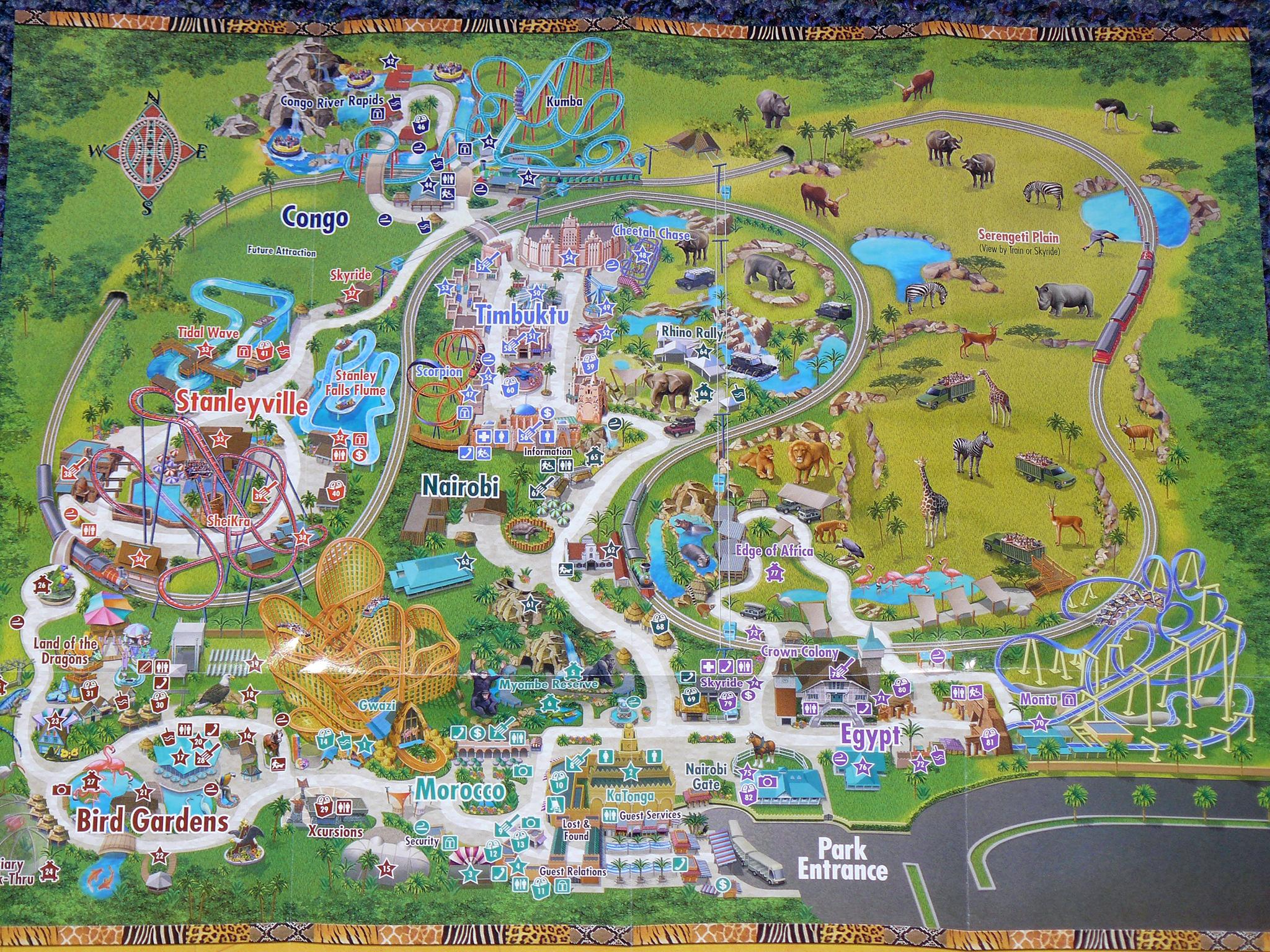 Busch Gardens Africa Map - 10001 N Mckinley Drive Tampa Fl 33612 - Bush Garden Florida Map