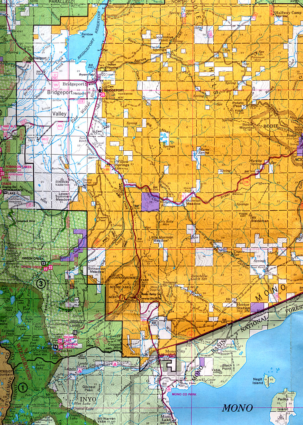 Buy And Find California Maps: Bureau Of Land Management: Southern - Blm Hunting Maps California