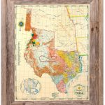 Buy Republic Of Texas Map 1845 Framed   Historical Maps And Flags   Vintage Texas Map Framed
